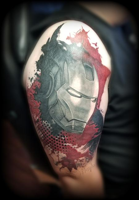 Tattoos - Ironman Trash Polka cover up by Haylo - 141195