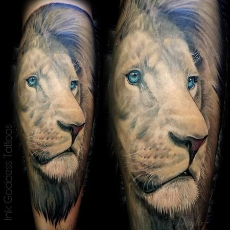 Tattoos - Lion leg tattoo by Haylo - 141185