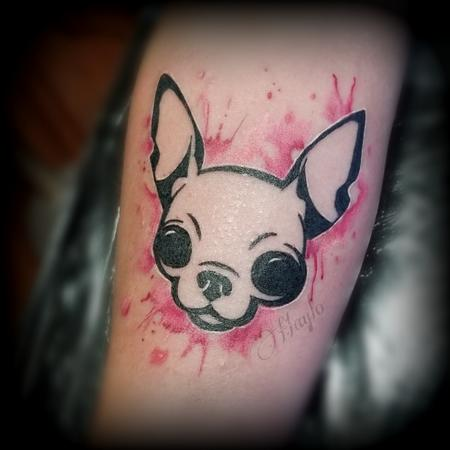 Tattoos - Chihuahua dog watercolor tattoo by Haylo  - 141145