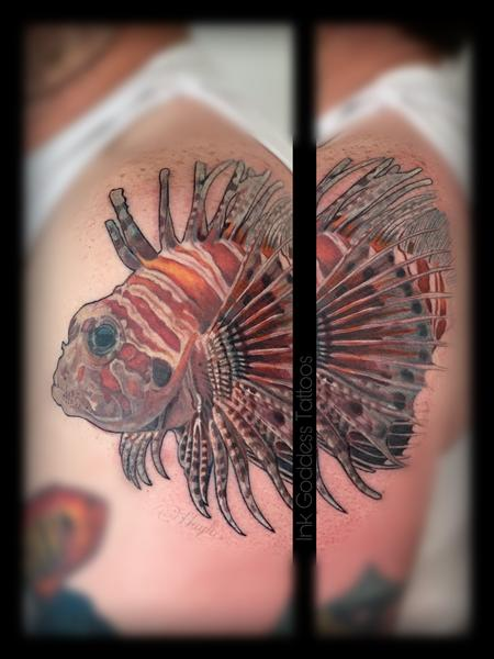 Tattoos - Lionfish tattoo by Haylo  - 141182