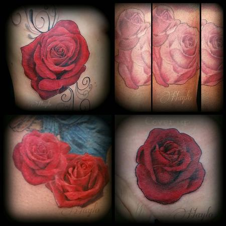 Tattoos - Collaboration of Realistic style roses - 104962
