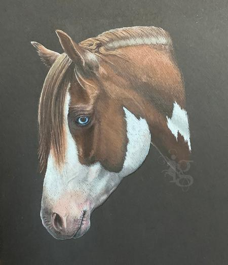 Tattoos - Prismacolor Horse Drawing by Haylo - 141616