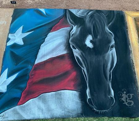Tattoos - Friesian Horse Side Walk Chalk Comp art by Haylo - 141618