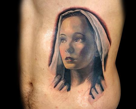 Haylo - The Virgin Mary portrait tattoo by Haylo