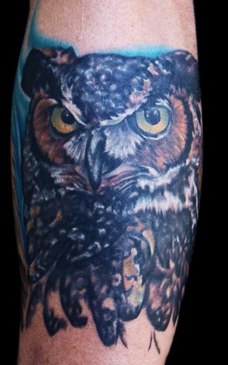 Tattoos - Great Horned Owl - 69567