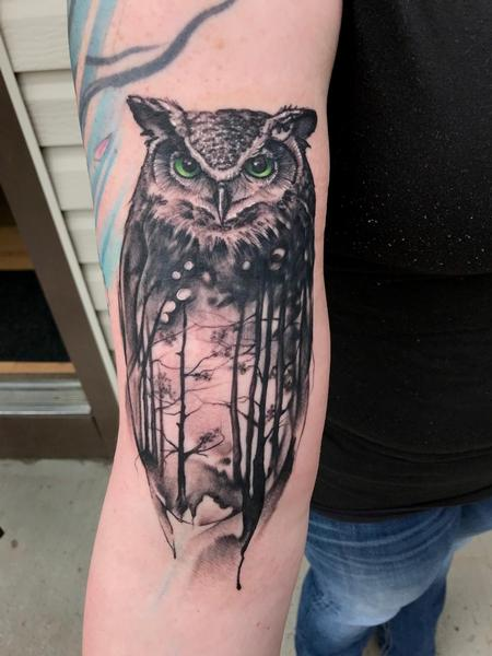 Tattoos - Owl, Forrest - 142169