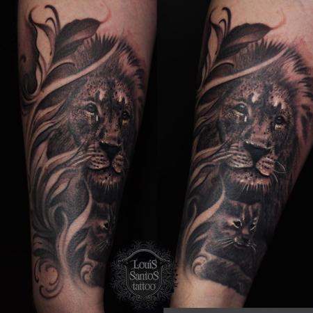 Tattoos - Realistic Lion Tattoo - 139821