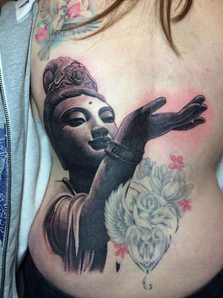 Tattoos - Buddha Statue Tattoo - 88863