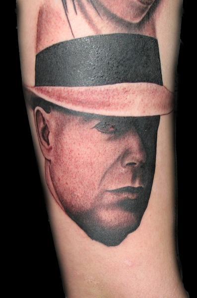 Tattoos - Black and Gray Portrait Tattoo - 59398