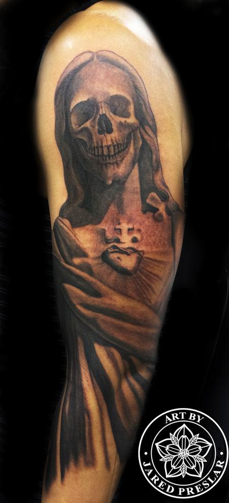 Tattoos - Skull Jesus Tattoo - 80347