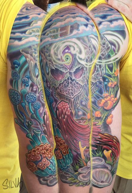 Marvin Silva - Custom Alien Tattoo