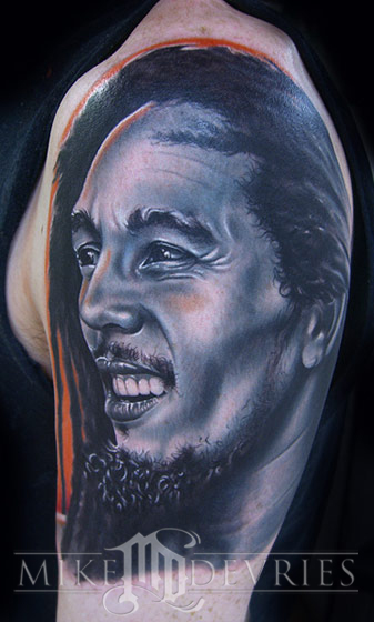 Mike DeVries - Bob Marley Tattoo