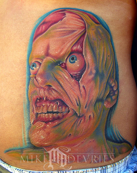 Tattoos - Creepy face Tattoo - 16542