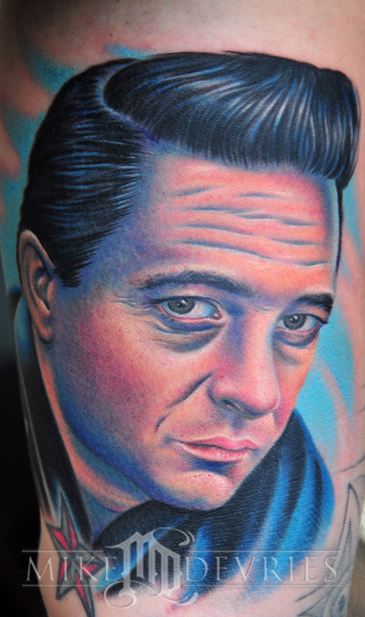 Tattoos - Johnny Cash Tattoo - 32541