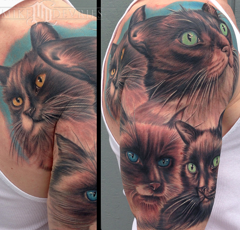 Mike DeVries - Cat Tattoos
