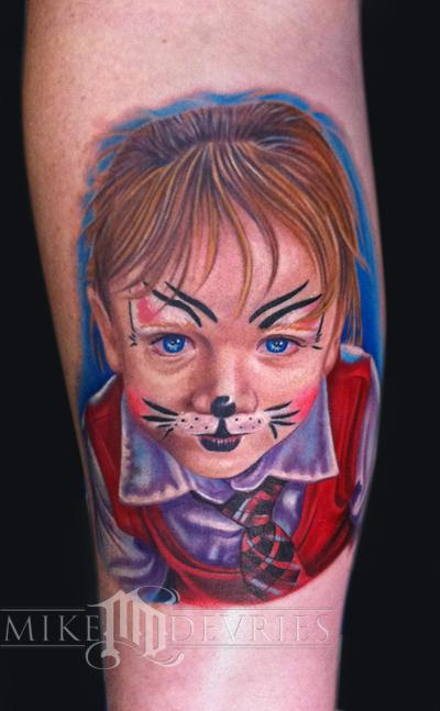 Mike DeVries - Child Portrait Tattoo