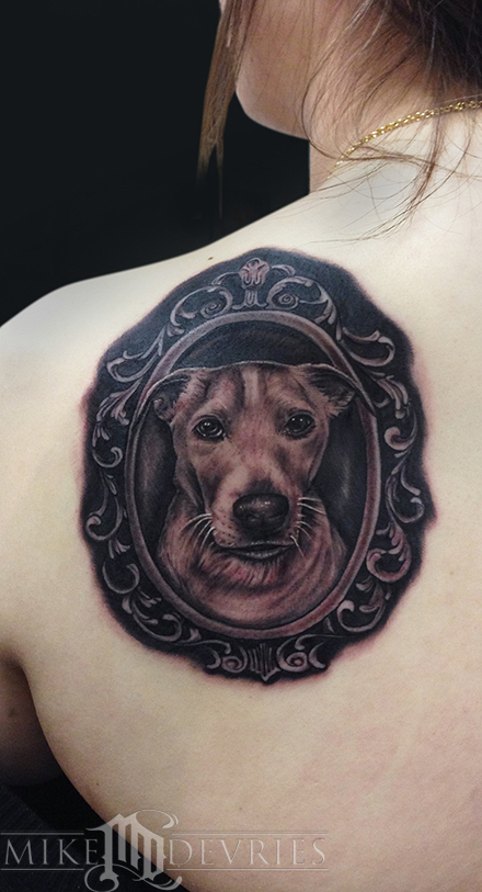 Tattoos - Dog Portrait Tattoo - 76067