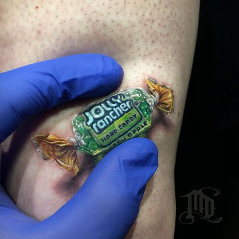 Jolly Rancher 3D Tattoo Tattoo Design