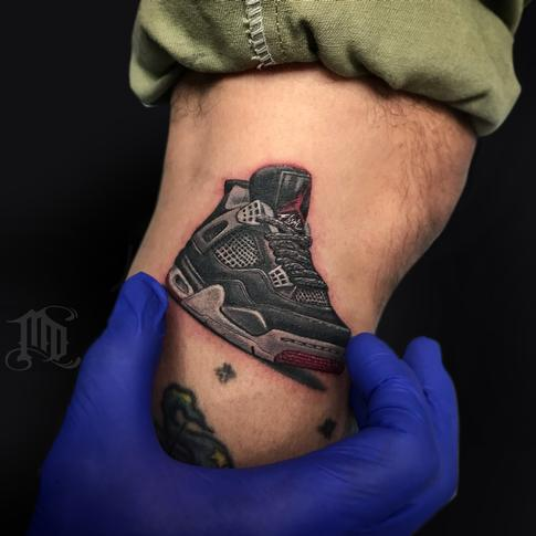 Mike DeVries - Jordan 4 Sneaker Tattoo