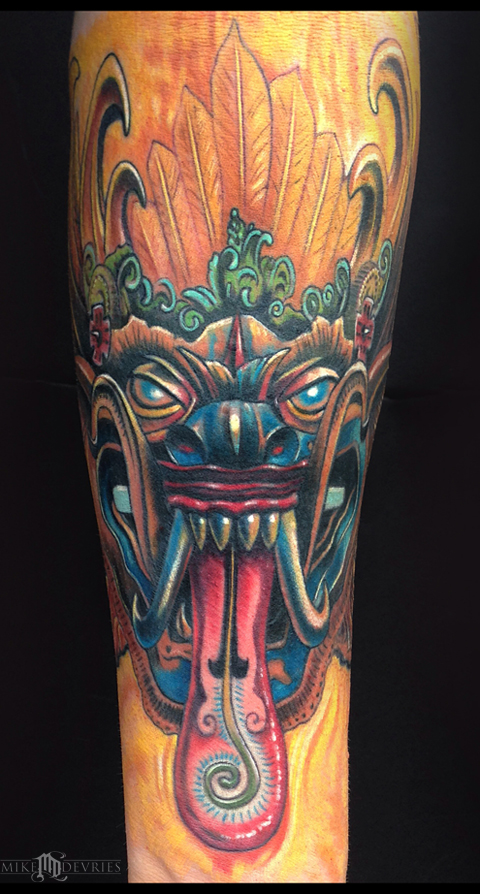 Mike DeVries - Leyak Mask Tattoo