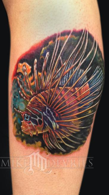 Mike DeVries - Lionfish Tattoo