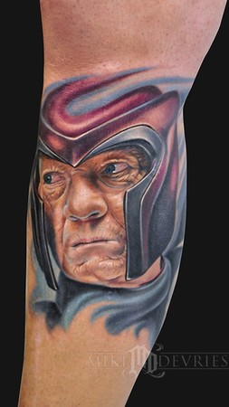 Mike DeVries - Magneto Tattoo