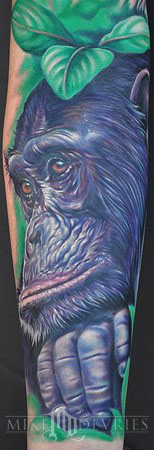 Tattoos - Chimp Tattoo - 38537