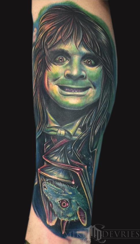 Mike DeVries - Ozzy Osbourne and Bat Tattoo