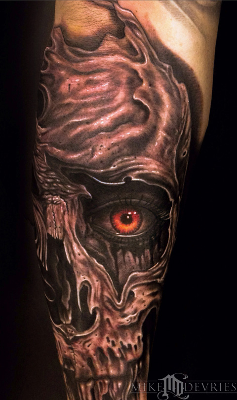 Mike DeVries - Skull Eye Tattoo