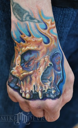 Tattoos - Skull Tattoo - 47341