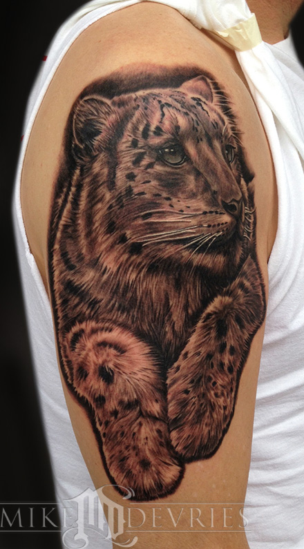 Mike DeVries - Snow Leopard Tattoo