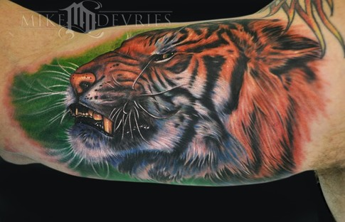 Mike DeVries - Angry Tiger Tattoo