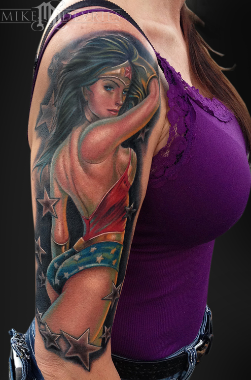 Mike DeVries - Wonder Woman Tattoo