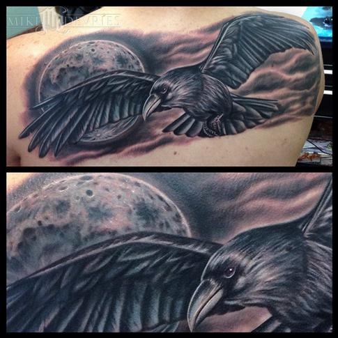 Tattoos - Crow Tattoo - 94395