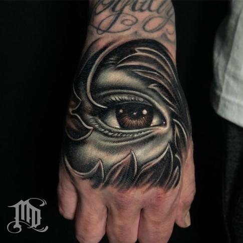 Mike DeVries - Eye Hand Tattoo
