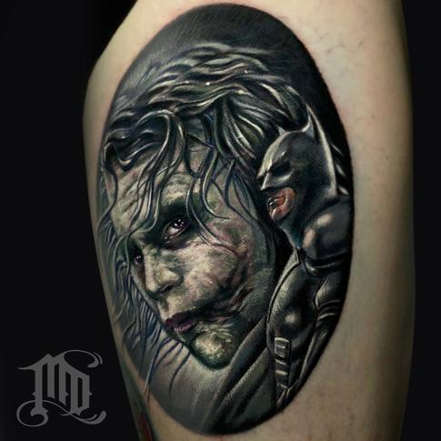 Tattoos - Heath Ledger Joker Tattoo - 134123