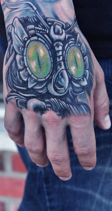 Mike DeVries - Mechanical Owl Tattoo