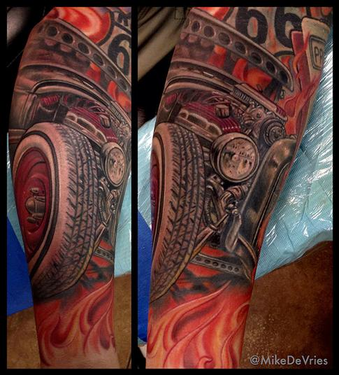 Tattoos - Ford Coupe Tattoo - 94392