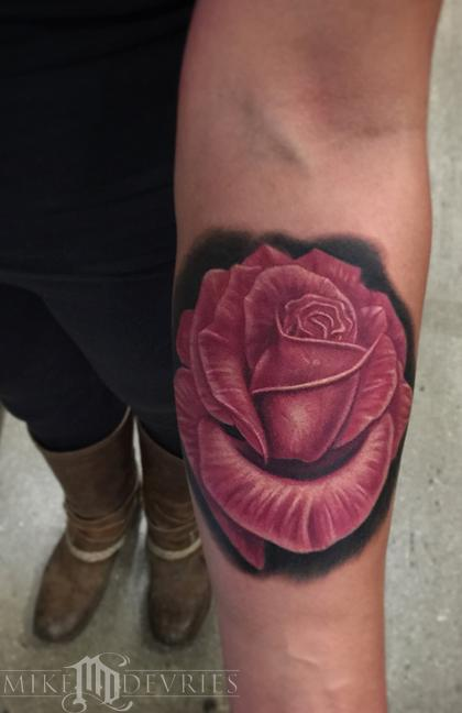Tattoos - Pink Rose Tattoo - 96490