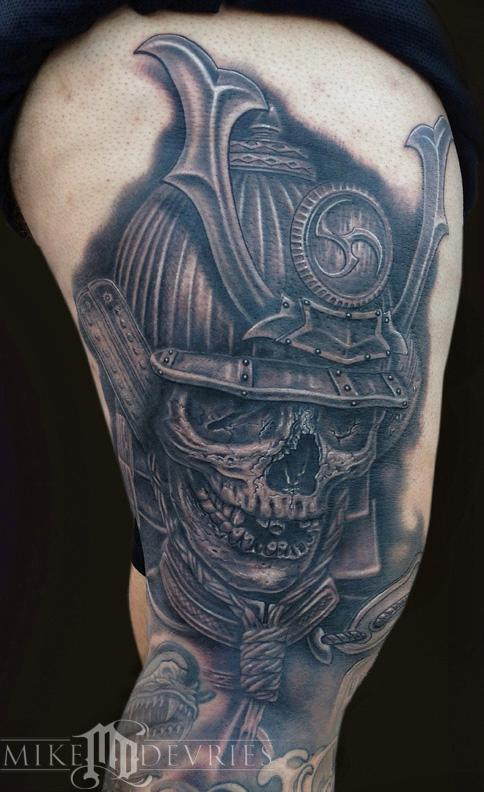 Mike DeVries - Samurai Skull Tattoo
