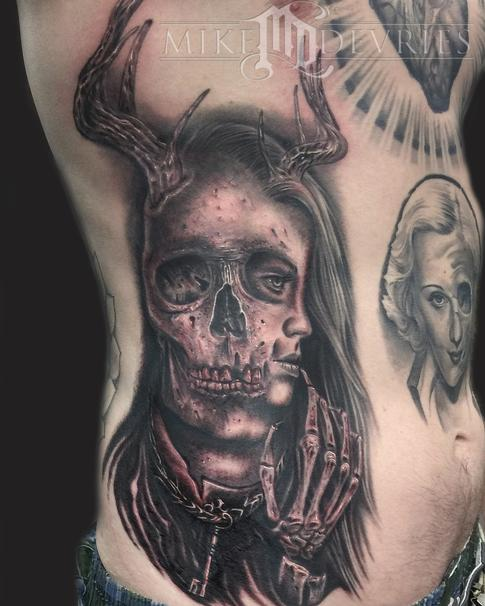 Tattoos - Skull Girl Morph - 122255