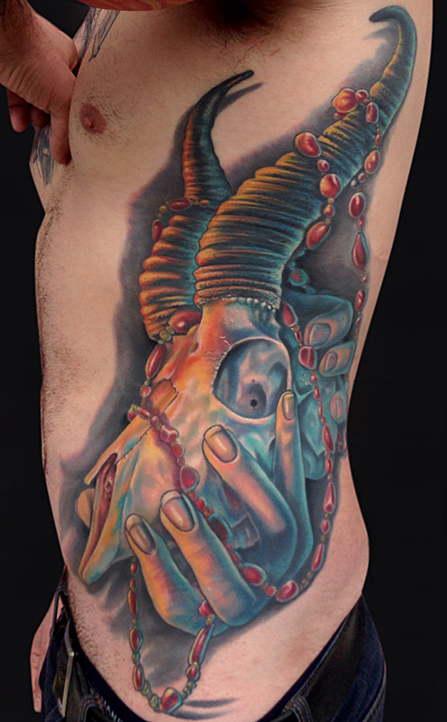 Mike DeVries - Springbok Skull Tattoo