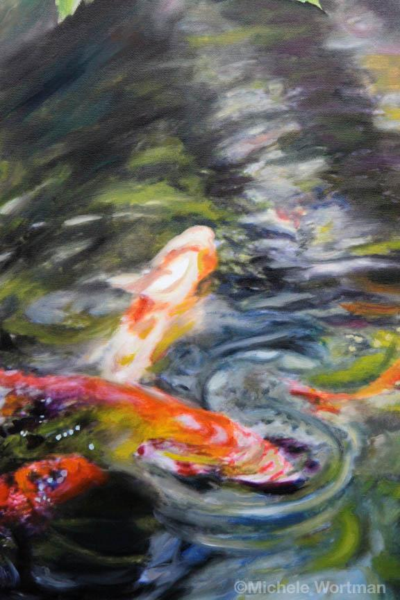 Michele Wortman - Koi pond 2011 detail