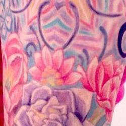 Tattoos - Caitlins Lacy Paisley half sleeve (details) - 91870