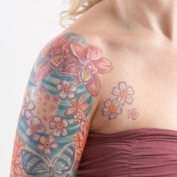 Tattoos - Jenn flight and flowers bodyset - 73229
