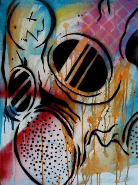 Tattoos - Gasmask skull - 64124