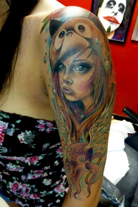 Tattoos - Spirit hood girl - 64099