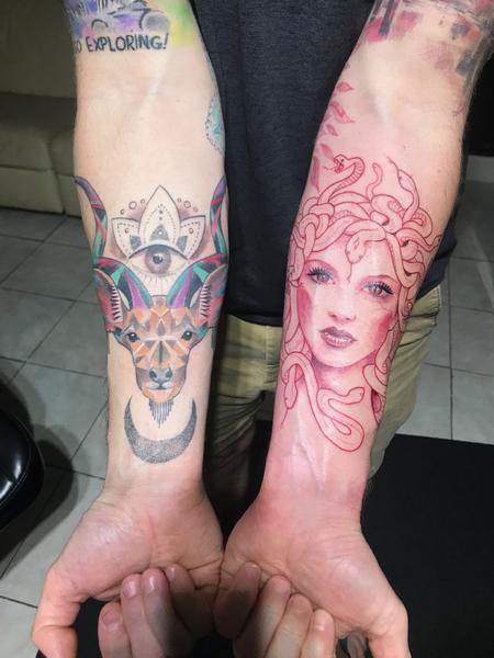 Tattoos - Medusa & Geometric goat - 143041