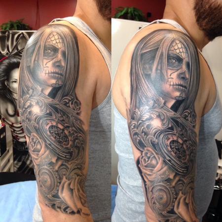 Tattoos - day of the dead/ dia de los muertos - 129453