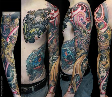 Tattoos - Wizard and Hydra - 140922